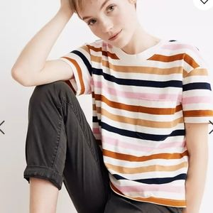 Madewell Easy Crop Tee in Beatrice Stripes